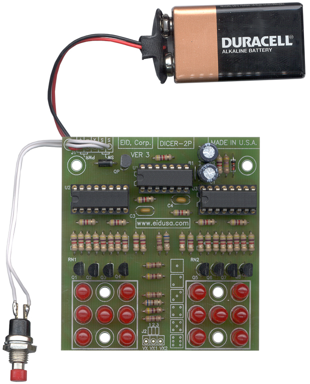 Electronic kits electronic led dual dice do it yourself diy and enjoy your kit solutioingenieria Gallery