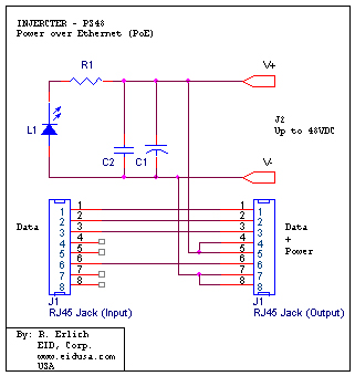 INJECTER_PS48_SCH electronic kits poe power over ethernet (injector) poe wiring diagram at reclaimingppi.co