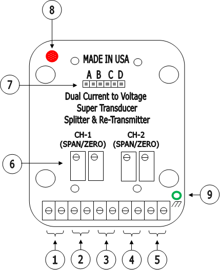 Interface Board Dual 4 20ma Current To Voltage Tranducer
