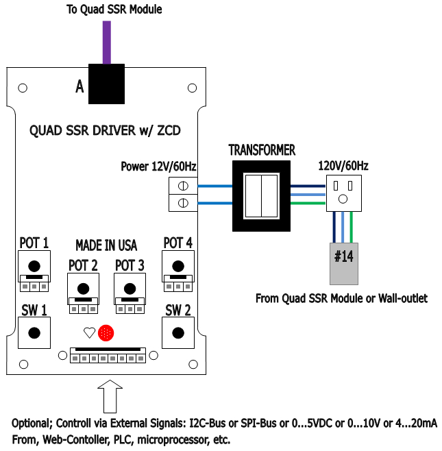 shown above quad solid state relay driver control interface board module basic connections ilration