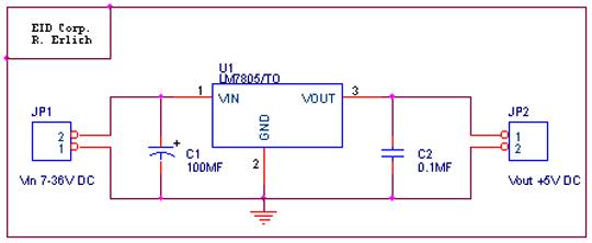 Circuit Diagram Of 7805 Voltage Regulator   Wiring Diagram