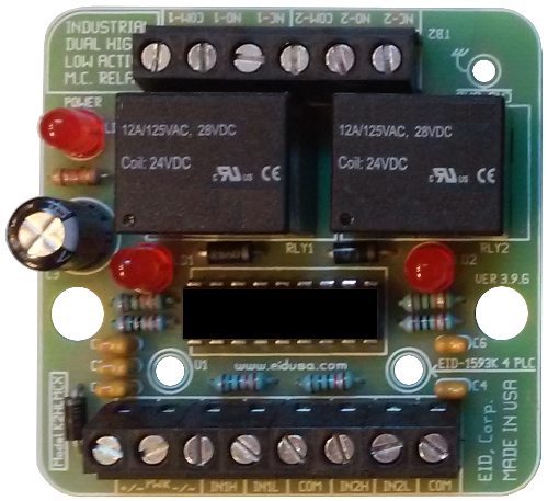 Dual High Low input signals medium current relay board with power