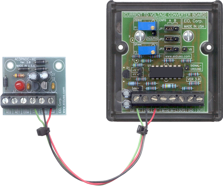Interface board 4-20mA current to voltage tranducer